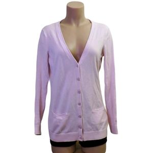 Tommy Hilfiger pale pink cotton cardigan Small